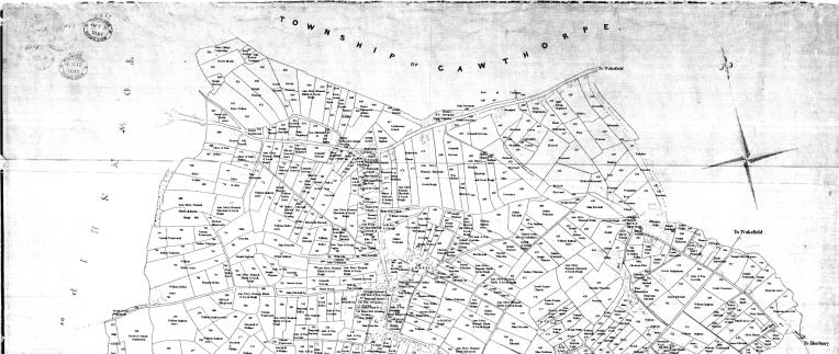 1843 TITHE AWARD MAP Top half