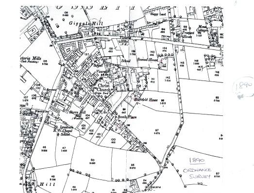 1890 Ordnance survey map