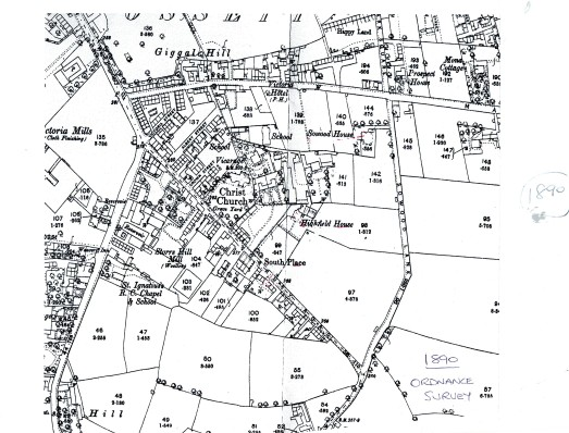 1890 Ordnance survey map