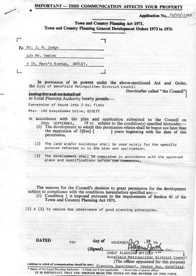 1975 Planning App John Judge
