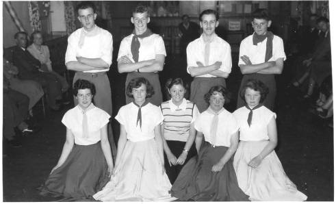 Coronation Square Dancers 2 - Harold Carter, Malcolm Beetham, Eric Wandless, Alec Archer; Joan Worth, Jean Fisher, Mollie Archer, Christine Dearnley & Betty Brearley
