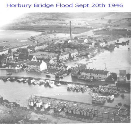 Horbury Bridge Flood Sept 20th 1946