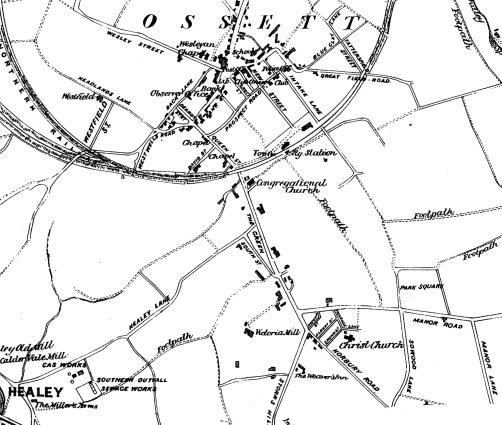 Ossett Plan 1886(Ossett Observer)