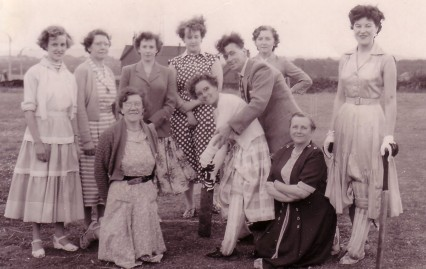 South Ossett Ladies Cricket Team 1956