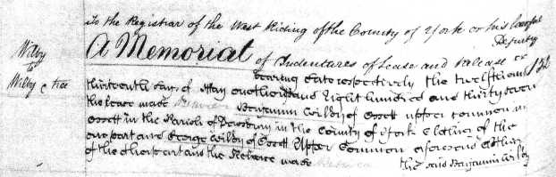 Wilby Deed 1837 pt 1