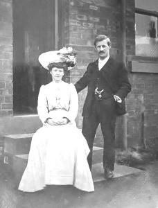 Judith and Ernest Ely wedding day