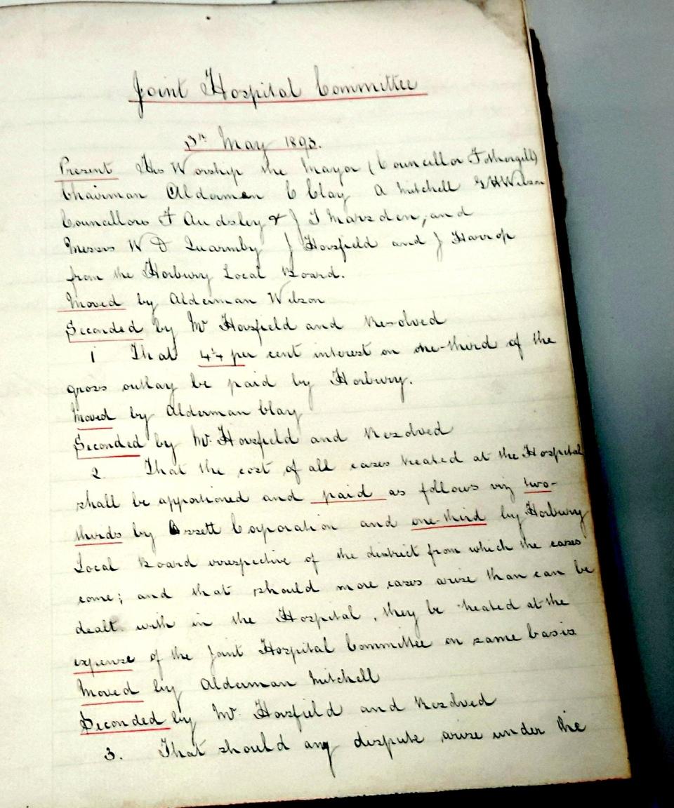 1) Hosp Committee 3rd May 1893