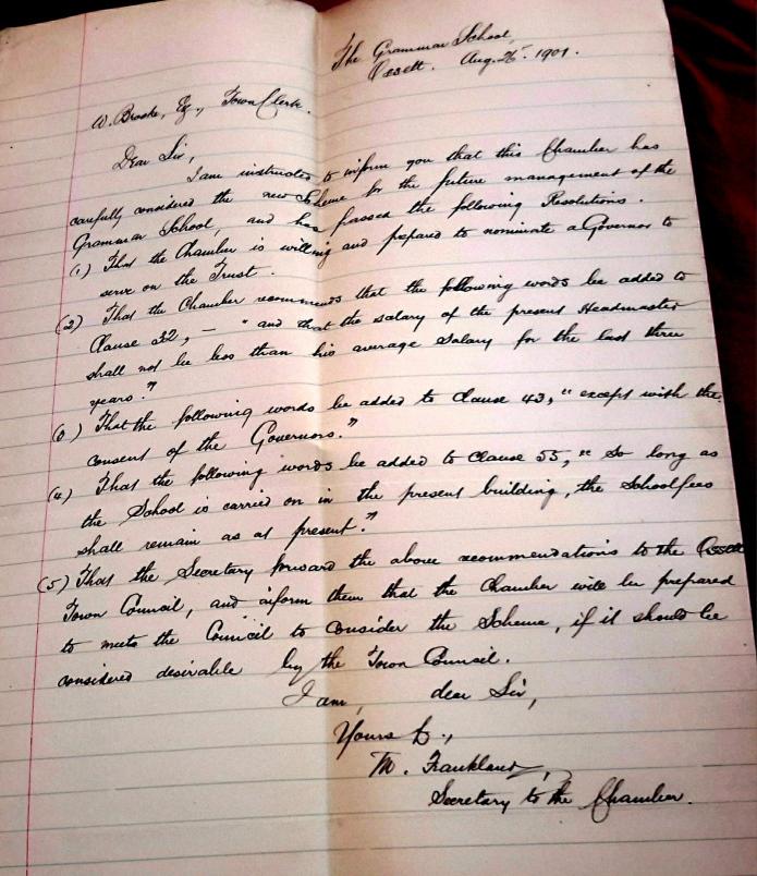 1901 letter