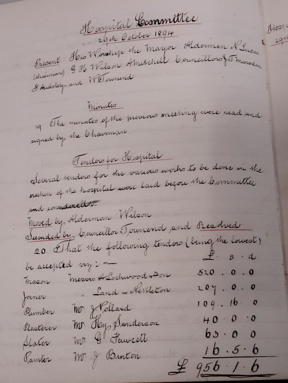 9) 29th Oct 1894