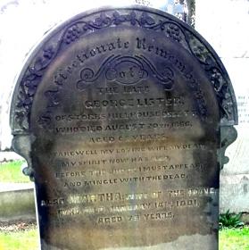 George Lister Gravestone