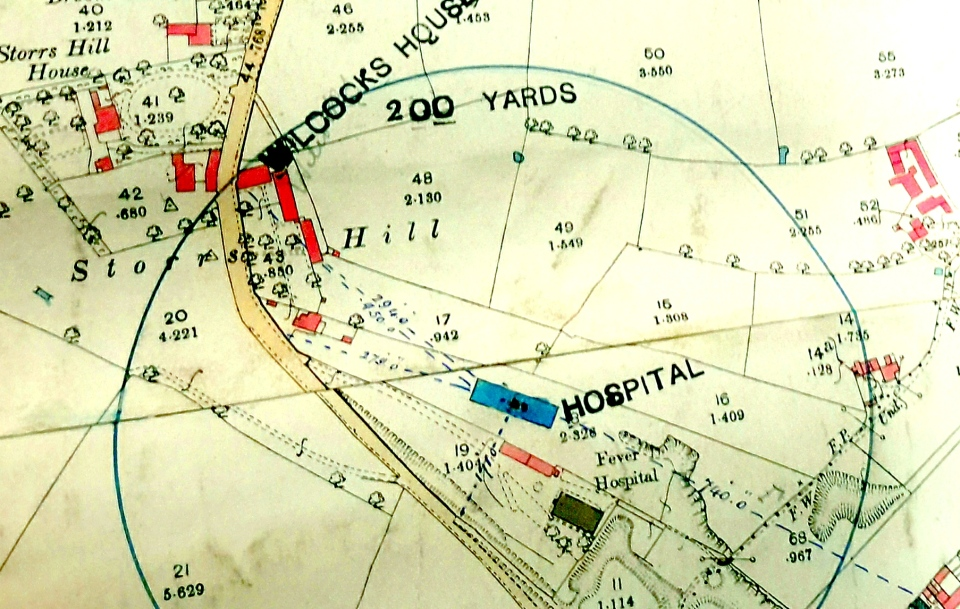 Map of Fever Hospital