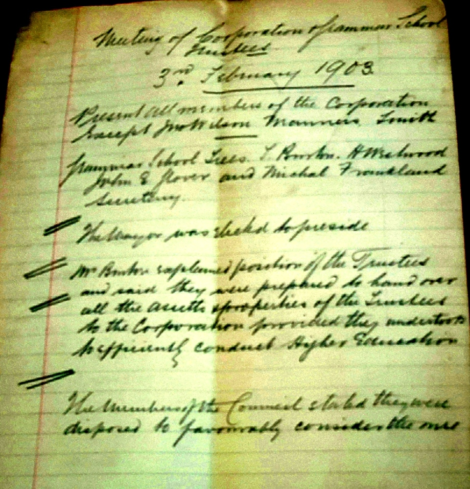 Meeting letter 1903
