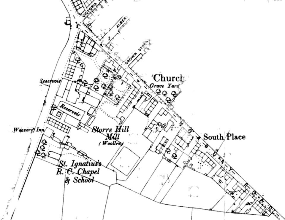 Storrs Hill Corner to Sowood Bend 1890